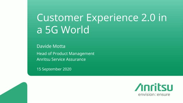 Customer Experience 2.0 in a 5G World