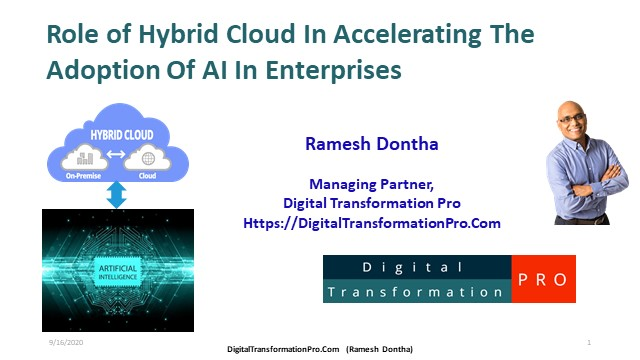 Role of Hybrid Cloud in accelerating the adoption of AI in enterprises