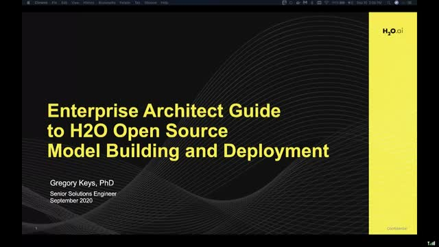 Enterprise Architect Guide to H2O Open Source for Model Building and Deployment