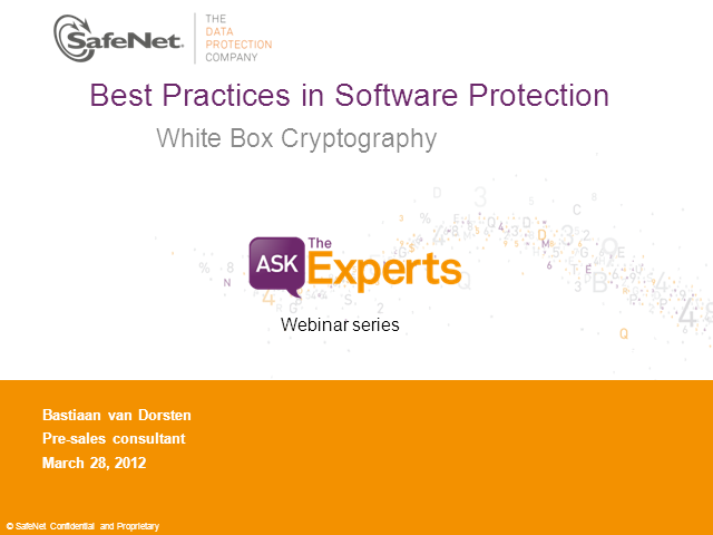 Best practices in Software Protection - White Box Cryptography