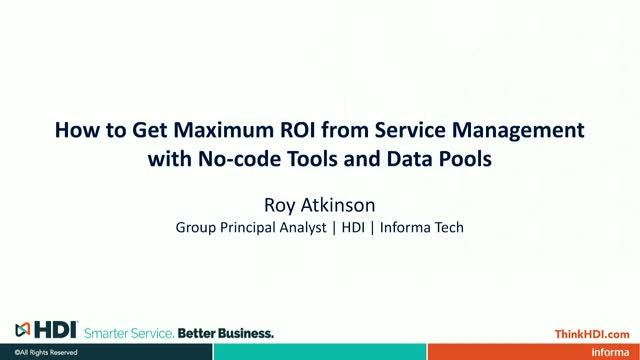 How to Get Maximum ROI from Service Management with No-code Tools and Data Pools