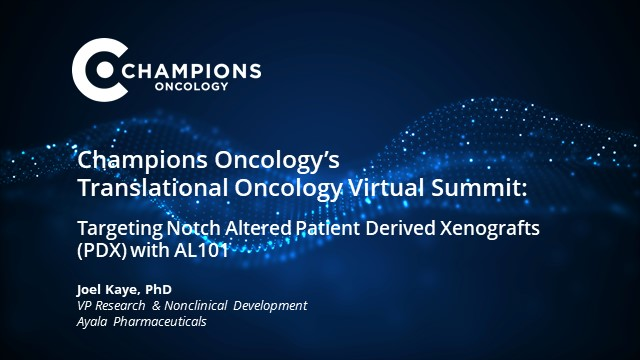Targeting Notch Altered Patient Derived Xenografts (PDX) with AL101