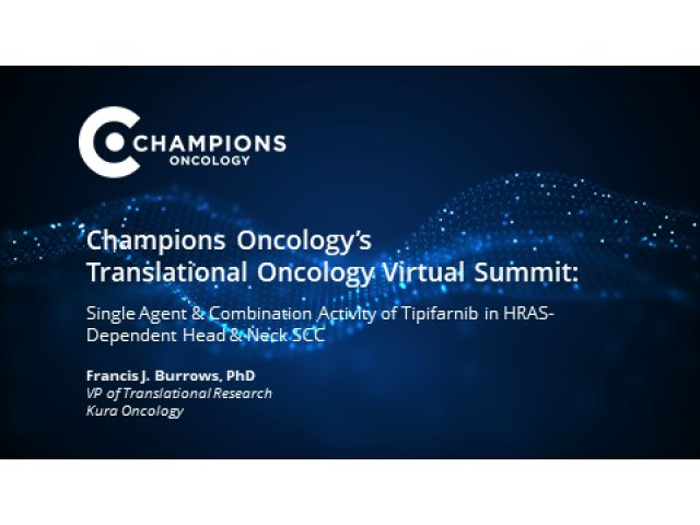 Tipifarnib as a Precision Therapy for HRAS-Mutant Head and Neck SCCs