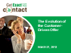 The Evolution of the Customer Driven Offer