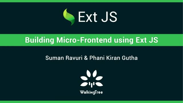 Sencha - Building Micro-Frontends using Ext JS