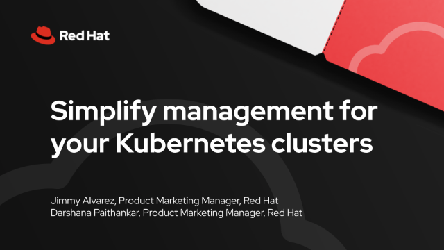 Simplify management for your Kubernetes clusters