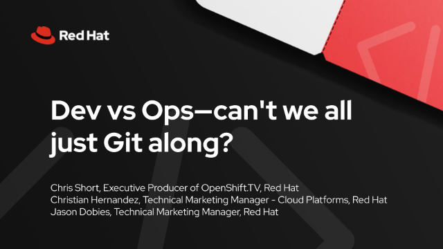 Dev vs Ops—can't we all just Git along?