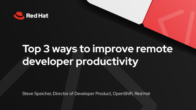Top 3 ways to improve remote developer productivity