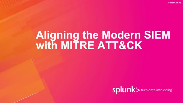 Aligning the Modern SIEM with MITRE ATT&CK