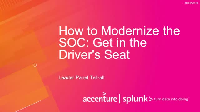 How to Modernize the SOC: Get in the Driver's Seat