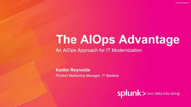The AIOps Advantage (Part 1) - An AIOps Approach for IT Modernization