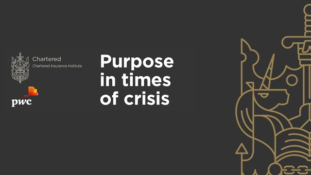 Purpose in times of crisis