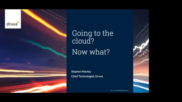 Going to the cloud? Now what?