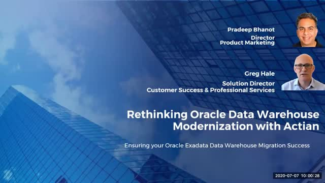 Rethinking Oracle Data Warehouse Modernization with Actian