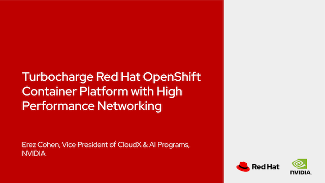 Turbocharge Red Hat OpenShift Container Platform