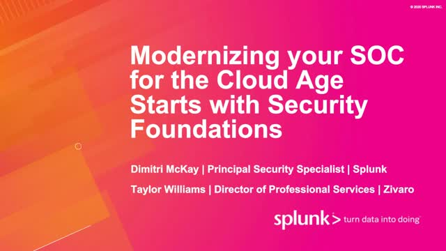 Modernizing your SOC for the Cloud Age Starts with Security Foundations