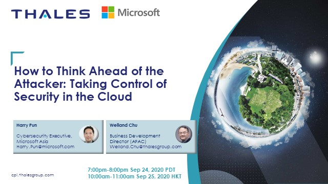 How to Think Ahead of the Attacker: Taking Control of Security in the Cloud