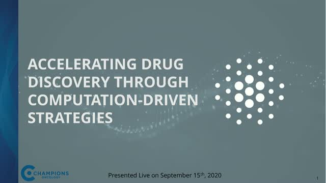 Building Oncology Biomarker Programs using Sequencing & Computational Discovery