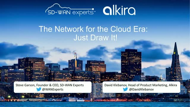 The Network for the Cloud Era: Just Draw It!