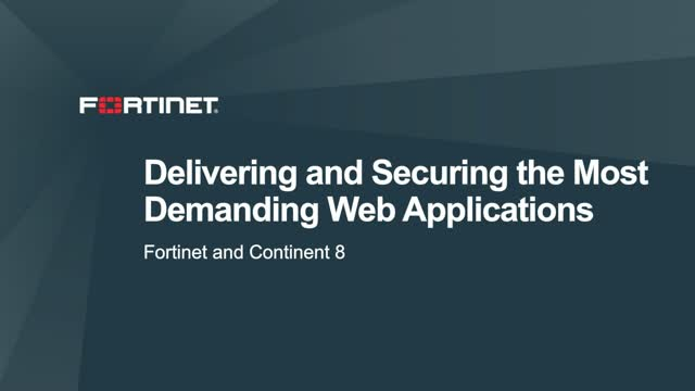Delivering and Securing the Most Demanding Web Applications