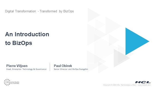 Intro To BizOps: Digital Transformations, Transformed by BizOps