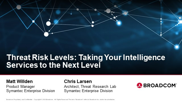 Threat Risk Levels: Taking Your Intelligence Services to the Next Level