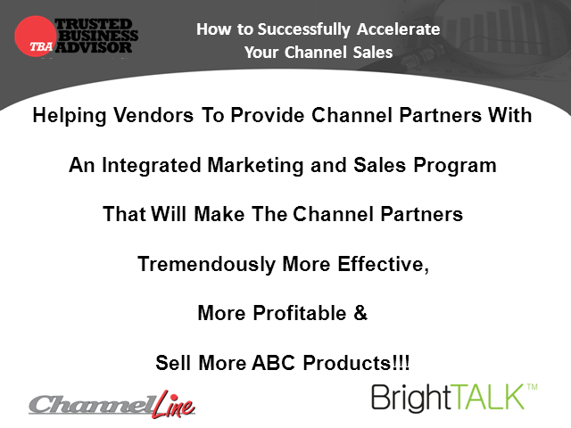 How to Successfully Accelerate Your Channel Sales