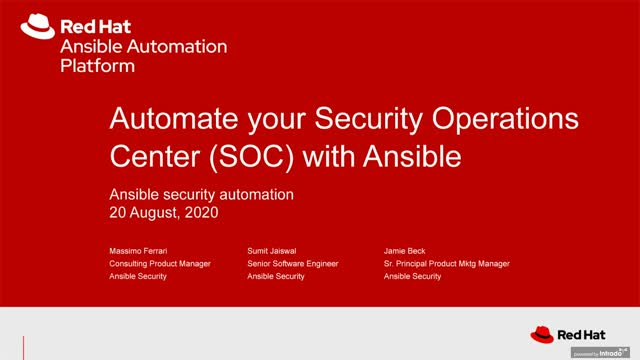 Enhancing security operations with Automation