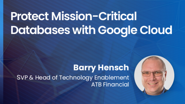 Protect mission-critical databases with Google Cloud