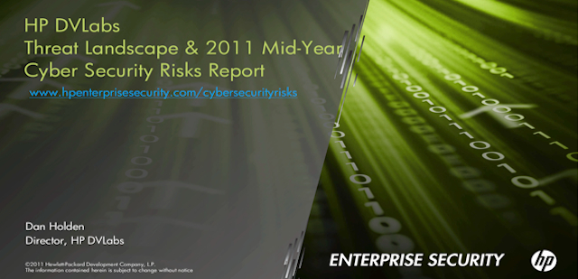 HP DVLabs Monthly Webcast: 2011 Mid-Year Cyber Security Risk Report