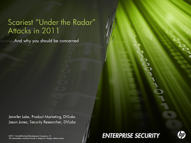 Under the Radar: The Top 5 Security Events You Missed in 2011