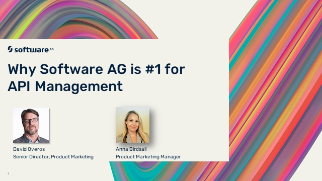 Why Software AG is #1 for API Management