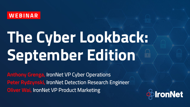 The Cyber Lookback: September Edition