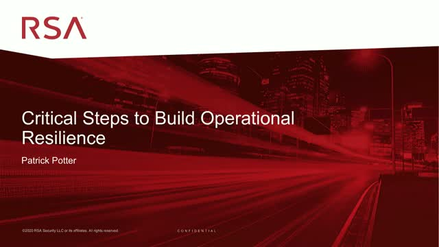 Critical Steps to Build Operational Resilience