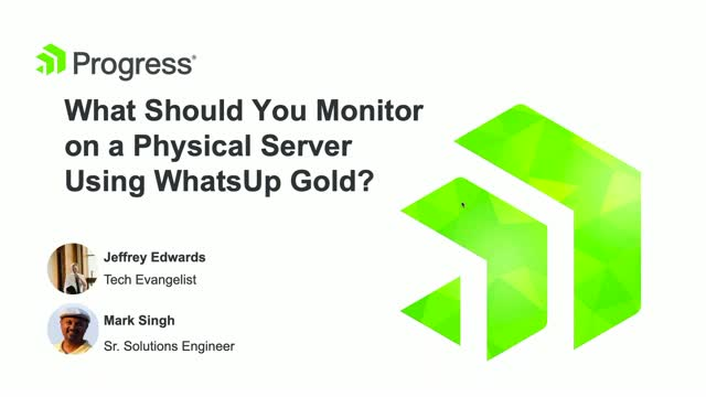 What Should You Monitor on a Physical Server Using WhatsUp Gold?