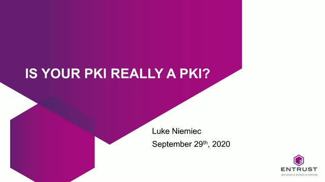 Is your PKI really a PKI ( Public Key Infrastructure)?