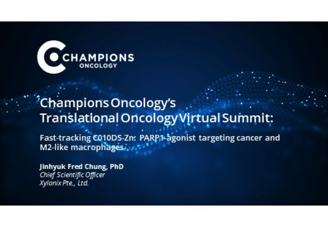 Fast-tracking C010DS-Zn: PARP1-agonist targeting cancer and M2-like macrophages