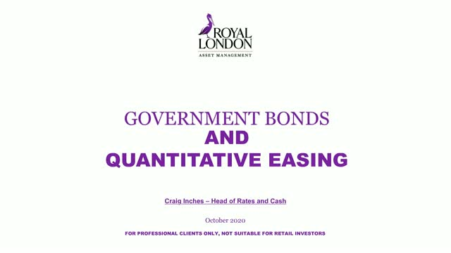 Government bonds and quantitative easing