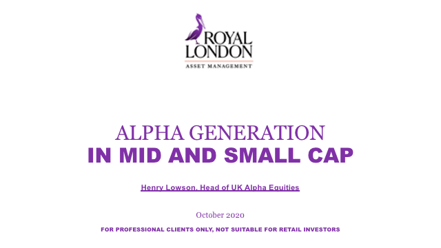 Alpha generation in mid and small cap