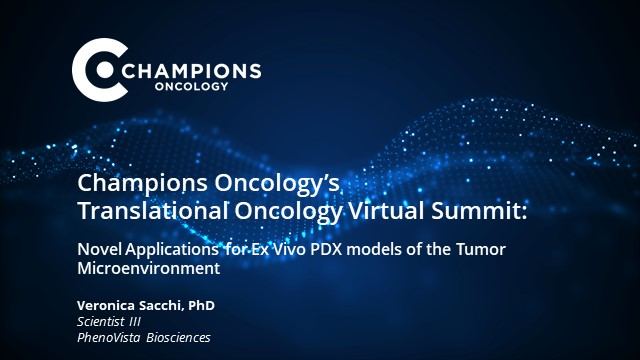 Novel applications for Ex-vivo PDX models of the Tumor Microenvironment