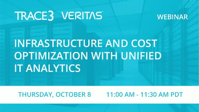 Infrastructure and Cost Optimization with Unified IT Analytics