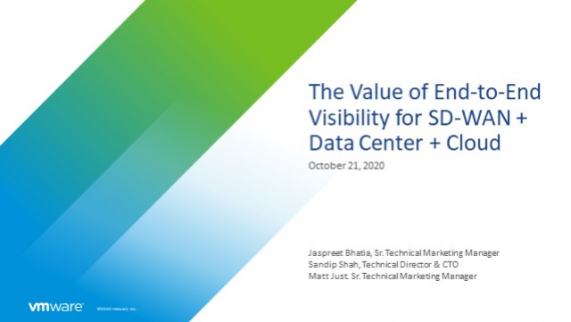 The Value of End-to-End Visibility for SD-WAN + Data Center + Cloud