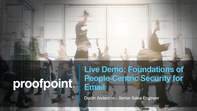 Live Demo: Foundations of People-Centric Cybersecurity for Email