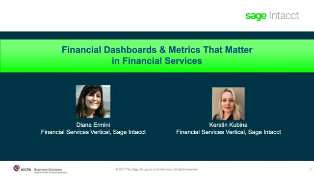 Financial Dashboards & Metrics That Matter for Financial Services Firms
