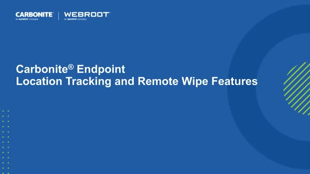 Carbonite Endpoint: Location Tracking and Remote Wipe Features