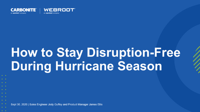 How to Stay Disruption-Free During Hurricane Season