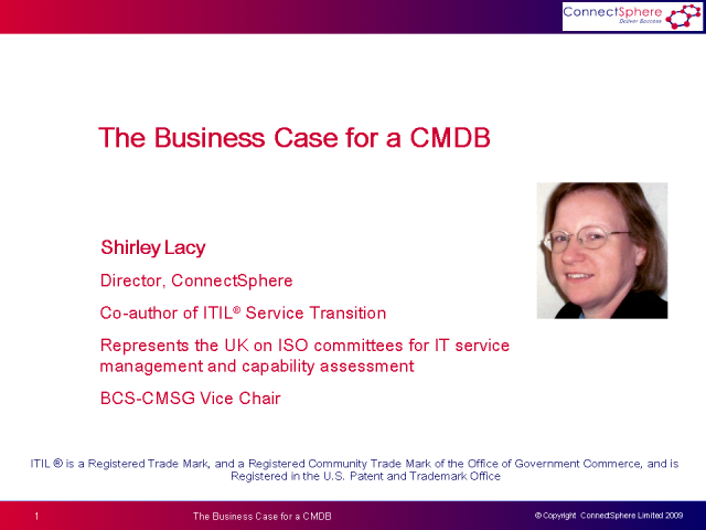 The Business Case for a CMDB