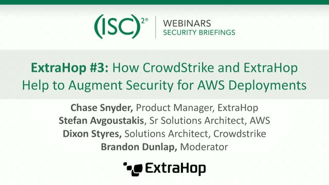 ExtraHop #3 How CrowdStrike & ExtraHop Help Augment Security for AWS Deployments
