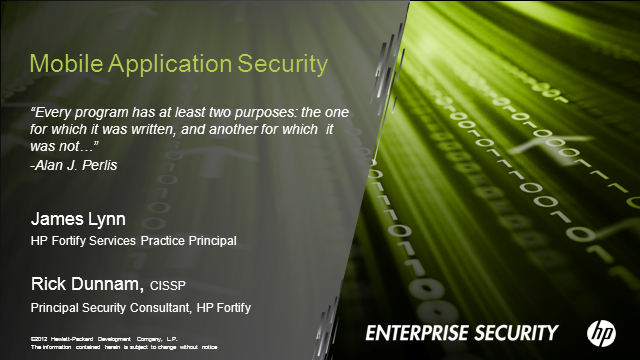 Securing Mobile Applications from the inside out