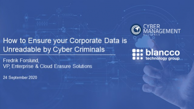 How to Ensure your Corporate Data is Unreadable by Cyber Criminals